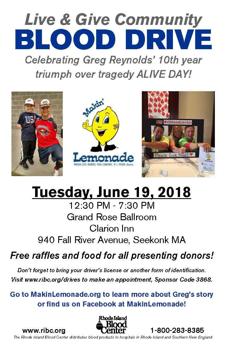 LIVE GIVE Blood Drive June 19th